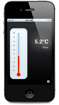 Screenshot Thermometer in Celsius